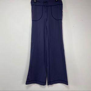 Lululemon blue wide leg stretch pants. Size 6
